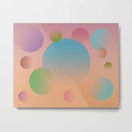 Abstract Gradient Spheres 1722 Metal Print