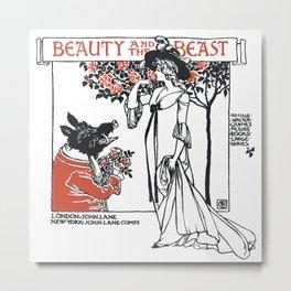 Beast and the Beauty Metal Print