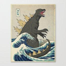 The Great Godzilla off Kanagawa Leinwanddruck