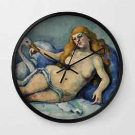 Leda and the Swan by Paul Cezanne Wall Clock