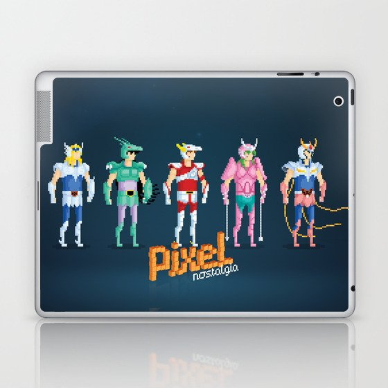 Saint Seiya - Pixel Nostalgia Laptop & iPad Skin