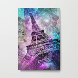 Pop Art Eiffel Tower Metal Print