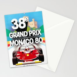 Monaco Gran Prix 38e 1980 Vintage Poster, Artwork for Wall Art, Prints, Poster, Tshirts, Men, Women, Kids Stationery Cards
