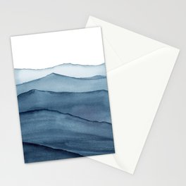 abstract watercolor waves Stationery Cards