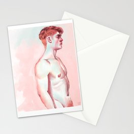 Millennial Red Head Stationery Cards