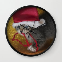 Cat Portrait | Christmas Wall Clock