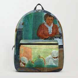 African American Masterpiece WPA Mural Harlem Hospital Education & Medicine - Pursuit of Happiness Backpack