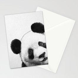 peekaboo panda Stationery Cards