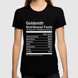 Goldsmith Nutritional Facts Tee Shirt T-shirt