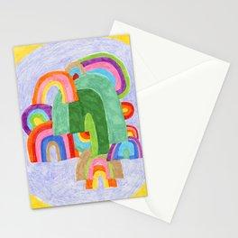 Rainbow Pileup Stationery Cards