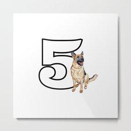 Type 5 Enneagram Dog German Shepherd Metal Print