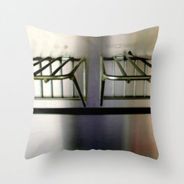 Metal On Metal Throw Pillow