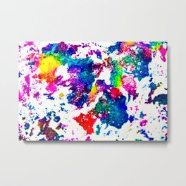 queer radiation — abstract art » modern print » trippy experimental Metal Print