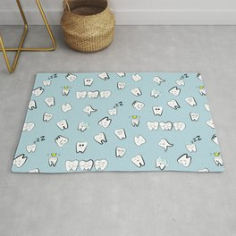 Teeth pattern Rug