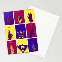 Monster Mudras color Stationery Cards