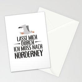 Lasst mich durch ich muss nach Norderney Möwe Stationery Cards