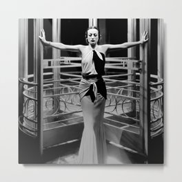 Joan Crawford, Hollywood Starlet Grand Hotel black and white photograph / art photography Metal Print