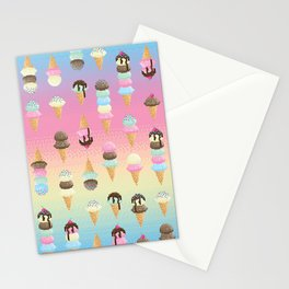Pixel Ice Cream - Rainbow Stationery Cards