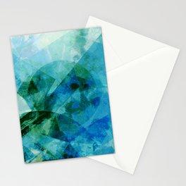 Precipice in Blue I Stationery Cards