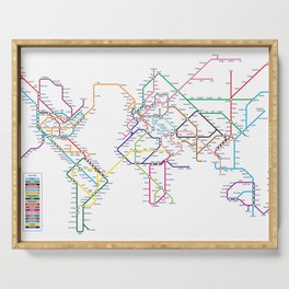 World Metro Subway Map Serving Tray