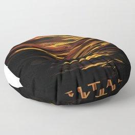 NASA Visions of the Future - Titan: Ride the tides through the throat of Kraken Floor Pillow