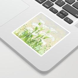 Calla Lily In White Sticker