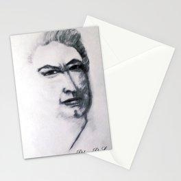 Portrait Sketch Of Artist Leslie B. De Mille Stationery Cards
