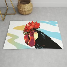 My Friends 1 - Andalusian Rooster Rug