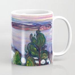 Edvard Munch - Train Smoke Coffee Mug
