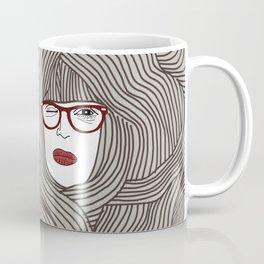 Long Hair Woman Coffee Mug
