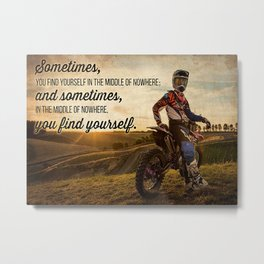 Speed Addicts Motocross Find Yourself Metal Print