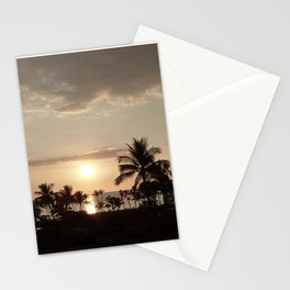Sunset and clouds in Hawaii Stationery Cards