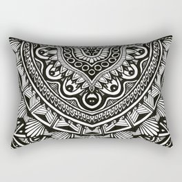 Arianna - Black and white motif Rectangular Pillow