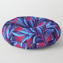 Pohutukawa - Red / Blue Floor Pillow