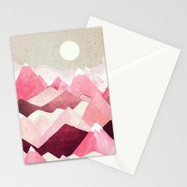 Blush Berry Peaks Stationery Cards