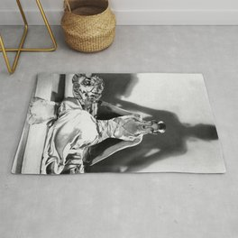 Fierce Josephine Baker Folies Bergère, Paris African American black & white photograph on Tiger Rug Rug