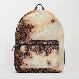 Cool brown rusty metal texture Backpack
