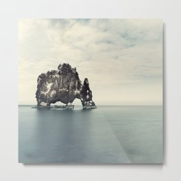 Elephant Rock, Hvitserkur Iceland Metal Print