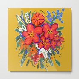 Fauvist flowers Metal Print