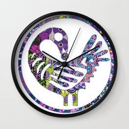 Purple Sankofa Bird Wall Clock