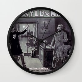Dr. Jekyll and Mr. Hyde Wall Clock