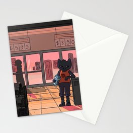 snack falcon's closing Stationery Cards