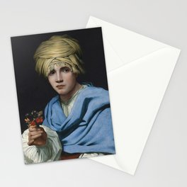 Michael Sweerts - Boy in a Turban holding a Nosegay Stationery Cards