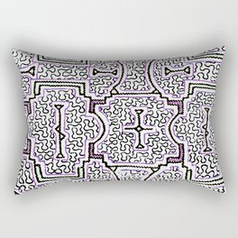 Song to Support Good Health - Traditional Shipibo Art - Indigenous Ayahuasca Patterns Rectangular Pillow
