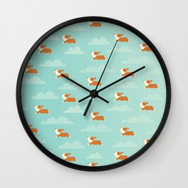 Angel Corgi Wall Clock