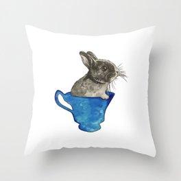 Follow The White Rabbit Throw Pillow