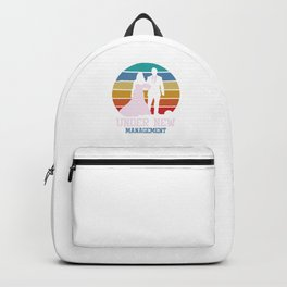 Retro Bride Groom To Be Wedding Marriage Under New Management Gift Backpack