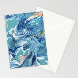Dancing Waves Abstract Stationery Cards