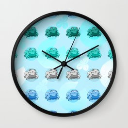 mlm Pride Frogs Wall Clock