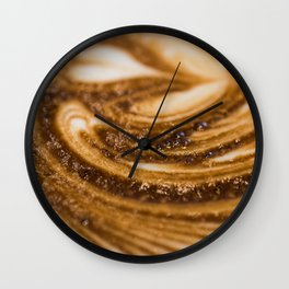 Coffee Close Up Wall Clock